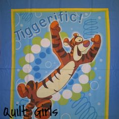 Tiggerific Quilt Fabric Panel to sew - Quilt Girls - 1