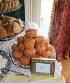 Dessert Table - Mini Orange Pudding Cake  Wedding Event
