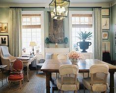 Charlotte Moss Office  via Lonny Magazine
