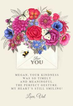 Blossom - Thank You Card #greetingcards #printable #diy #thankyou #notes #thanks Thank You Notes, Thank You Cards, Thank You Card Template, Greeting Cards, Thankful, Printables, Stamp, Templates, Create