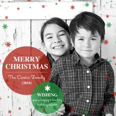 Mixbook Transparent Dots Christmas Cards