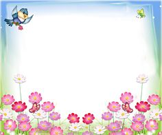 Frames and children's birthday «Category Borders For Paper, Borders And Frames, Science Lab Decorations, School Border, Background Powerpoint, Cute Frames, Frame Background, Vintage Scrapbook, Binder Covers