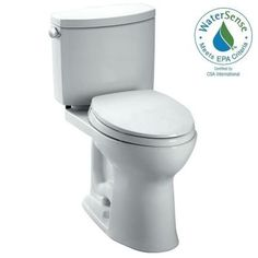 Toto Drake II 2-piece 1.28 GPF Single Flush Elongated Toilet in Cotton-CST454CUFG#01 - The Home Depot