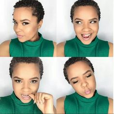 TWA Coils & Smiles...See How to Define Your TWA Coils in a Similar Style Here: http://www.naturalhairmag.com/twa-styles-defined-frizz-free-coils/ IG:@ilovealimara  #naturalhairmag