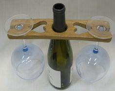 Wine Caddy \ Wine Butler \ Wine Holder \ Wine \ Wine Glass Holder \ Wine Carrier \ Wine Lover Gift \ Wine Bottle Holder Bottle Glasses Diy, Wine Glass Holder, Wine Bottle Holders, Gifts For Wine Lovers, Wine Gifts, Butler, Wine Caddy, Wine Carrier, Wine Craft