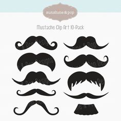 Free Mustache Party Printables | Mustache Party Digital Clip Art for photobooth props, printables ...