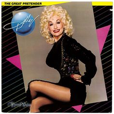 """""""The Great Pretender"""", by Dolly Parton is composed of covers of hits from the 1950s and 1960s; it peaked at #7 on the US Country Albums chart. It made heavy use of synthesizers and had a decidedly pop sound. The first single, a remake of The Drifters' 1960 hit """"Save the Last Dance for Me"""" was a top 10 country single for Parton. """"The Great Pretender"""" was her first album to be issued on the then-new CD format at the time of its release. (Vinyl LP)"""