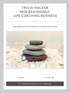 Tricia Hocker  New Beginnings   Life Coaching Business