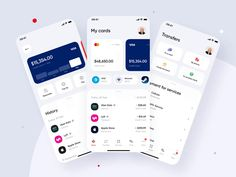 Bank of America   Online Banking Mobile App Concept by Dmitry Lauretsky for Ronas IT   UI/UX Team on Dribbble App Design Inspiration, App Icon Design, Mobile App Ui, Mobile App Design, Mobile Ui Patterns, Card Ui, Mobile App Development Companies, Apps, Interactive Design