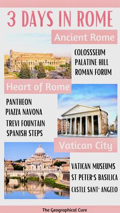 Rome Travel, Europe Travel Guide, Asia Travel, Italy Travel, Travel Tips, Rome Pantheon, 3 Days In Rome, Weekend City Breaks, Rome Itinerary