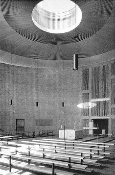 Katholische Pfarrkirche Sankt Johann von Capistran (church) Bogenhausen, Munich, Germany; 1958-60  Sep Ruf