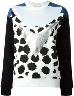 Être Cécile Multicolor Geometric Print Sweatshirt #LaPETITEBlog