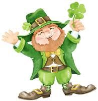 Cute leprechaun image for St. Patrick's Day. We are going to paint  (very large) envelopes green to make leprechaun suits, add a stripe of black paint for the belt and take pics of the kids in them...hope it works! Will be fun regardless...