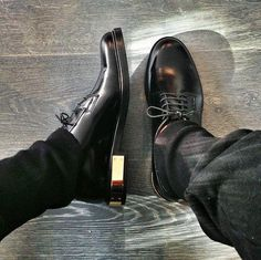 Black men's style shoes with gold..I'm kinda diggin'm.