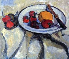Paula Modersohn-Becker - Still Life with strawberries and lemon