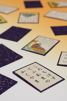 Karuta (Japanese cards) - Using cards with pictures and words, people compete to find picture cards that match the card being read aloud.