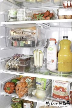 Organize Your Refrigerator Like A Boss- Do's & Don'ts Organize Your Refrigerator Like A Boss- Do's & Don'ts – My Casa Di Bella - Pantry With Organization Kitchen Freezer Organization, Refrigerator Organization, Home Organisation, Kitchen Organization, Organization Hacks, Organize Fridge, Medicine Organization, Fridge Storage, Pantry Storage Containers