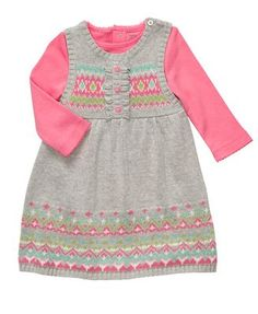 Carter's Baby Set, Baby Girls Bodysuit and Sweater Jumper Dress