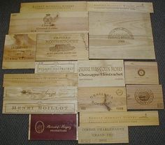 Wooden Wine Box End Panels from Wine Crates by WinePanelsGalore