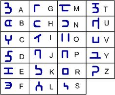 H'ruun alphabet by Great-5.deviantart.com on @DeviantArt