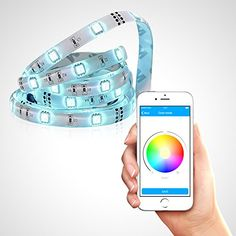 Satechi LED IQ Strip Bluetooth 40 iOS iPhone iPad Flexible App Controlled Advanced Multi Color RGB LED Neon Accent Lighting System Kit 492 feet * You can find more details by visiting the image link.(It is Amazon affiliate link) #tagsforlikesfslc