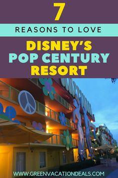 7 Reasons to Love Disney's Pop Century Resort Disney World Hotels, Disney World Vacation, Disney World Resorts, Disney Vacations, Disney Trips, Walt Disney, Disney Travel, Disney Pop, Florida Travel