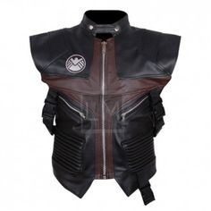 Hawkeyes Faux Leather Vest from Avengers Age Of Ultron 2015