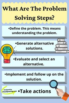 What are the problem solving steps? - Problem Solving