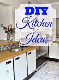 DIY Kitchen Ideas ~ Easy & Do-Able DIY Ideas for Your Kitchen ! #KitchenMakeover #Storage #Organizing #SlidingCabinets #SlidingPantry