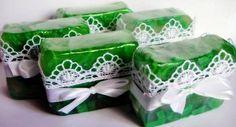 Sabonete Verde Rendado Erva-Doce e Capim Limão