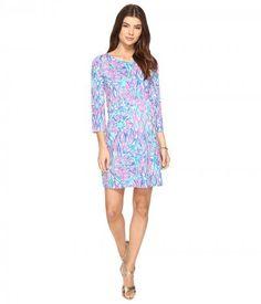 Lilly Pulitzer - Bay Dress (Tiki Pink Shake It Up) Women's Dress