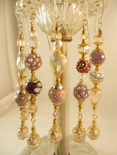 Pink Kashmiri Christmas Bead Dangle Ornament by LaReineDesCharmes, $36.00