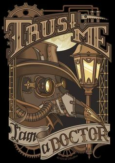Steampunk Plague Doctor Print by Cthulhu-Great. Cyberpunk, Steampunk Kunst, Plauge Doctor, Desenhos Cartoon Network, Corporate Identity Design, Steam Punk, Cthulhu, Dieselpunk, Steampunk Fashion