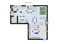 L Shaped Classroom, Preschool Environment Design Idea Physical Environment, Environment Design, Preschool Classroom, Classroom Ideas, Classroom Floor Plan, School Architecture, L Shape, Maths, Floor Plans