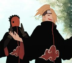 akatsuki tobi and deidara.