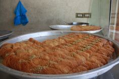 Knafeh Mabroumeh   Rolled Kataifi Pastry Arabic Sweets, Arabic Food, Kataifi Pastry, Phyllo Dough, Lebanese Recipes, Middle Eastern Recipes, Mediterranean Recipes, Cravings, Food Porn