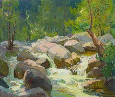 Franz Bischoff - Rushing Waters, Arroyo Seco