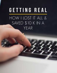No one likes to talk about it-but it is something we all deal with. Let's get real and talk about money. Learn how I lost it all and saved $10 K in a year.