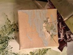 Original Weeping  Champagne Baby Blue Floral Art in by sherischart, $33.95  http://www.etsy.com/shop/sherischart