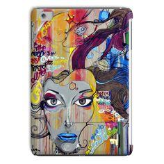 Street Art Lady Portrait Tablet Case