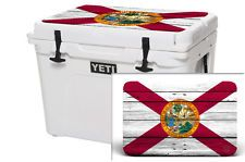 24Mil Thick LID Skin Wrap Accessories YETI ROADIE 20QT Cooler Florida WD FLAG
