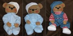 """...back to Index/Home!  BEAR version  Free Pattern!  Free Cloth Doll Pattern by Judi Ward - Baby Bows      Baby Bows  About 18"""" to 20"""" long    A SUPER SIMPLE  AND FUN PATTERN!    by Judi Ward/Judi's Dolls    ©2006"""