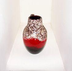 Funky Retro Vase FAT LAVA 414/16 W. GERMANY Mid Century Kostbares Sammlerstück