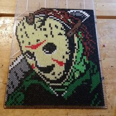 Jason (Friday the 13th) perler beads by the_nerdy_girl_crafter