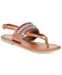 Madden Girl Revivee Beaded Thong Sandals synthetic bright multi sz7 34.30 25%off+30%off thru 10/24 (18.01)