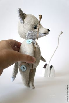 Hand Stitched, Jointed Fox