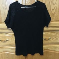 Sweater A stylish sweater. Sleeves have lace on there has a soft touch very good condition AGB Sweaters Cardigans