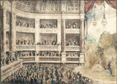 An Opera Performance von Jean Michel Moreau le Jeune