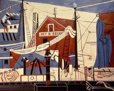 Landscape with Drying Sails by Stuart Davis (1931-32). Inspiration for Magoo backgrounds