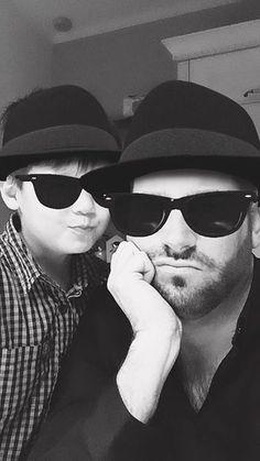 Xavi (4) met zijn papa Maikel #selfiekunst